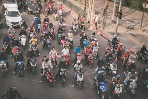 bangkok traffic thailand street